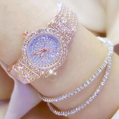 Luxury Women Watches Diamond Famous Brand Elegant Quartz Watches in 2019 Trendy Watches, Cute Watches, Elegant Watches, Beautiful Watches, Women Accessories, Jewelry Accessories, Fashion Accessories, Fashion Jewelry, Accesorios Casual