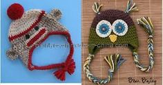 monkey and owl beanies