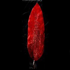 Red Velvet Sword Leave Pick #ISB39297 - House of Holiday