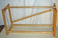 The assembled grow light stand frame