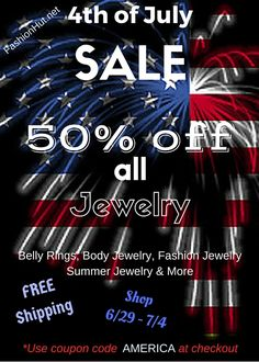 Jewelry Blowout Celebration - All Jewelry 50% off plus Free Shipping - No Exclusions !