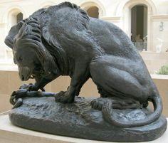 Antoine Louis Barye : Lion au serpent