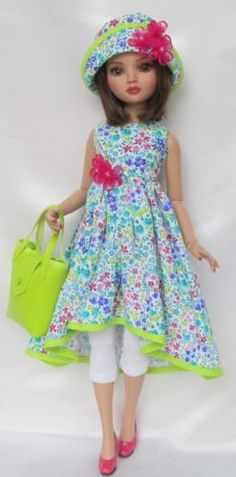 "ELLOWYNE'S GARDEN OF DELIGHTS OUTFIT. FOR 16"" ELLOWYNE, by ssdesigns via eBay, SOLD 3/21/15  $48.99"