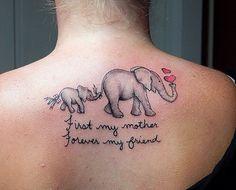 Kingdom inK - Artwork Mommy Tattoos, Mother Tattoos, Baby Tattoos, Family Tattoos, Sister Tattoos, Body Art Tattoos, Tattoo Ink, Tatoos, Elephant Family Tattoo