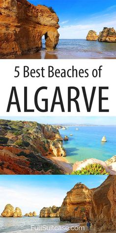 Most scenic best beaches you have to see in Algarve Portugal #beaches #portugal #algarve