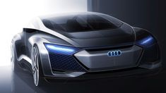 Audi Aicon Idea Automobile: Autonomous on Course for the Future — Autos. Audi A8, Audi Design, Automobile, Car Design Sketch, Car Sketch, Audi Sport, Futuristic Cars, Car Shop, Transportation Design