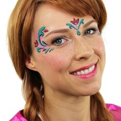 Frozen Anna Face Painting by Ashlea Henson