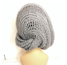 Womens Crochet Hat Womens Hat Trendy Slouchy Hat Slouchy Beanie Hat Gray Hat LUNCH LADY Crochet Slouchy Beanie Hat by strawberrycouture by #strawberrycouture on #Etsy