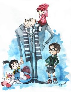 Gru and his Girls