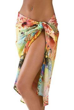 8a84488a73c74 Sassy Sarongs Hawaiian Print Swimsuit Sarong Cover Up http   amzn.to