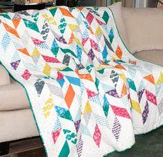 Cascade Quilt Kit featuring Mormor by Lotta Jansdotter. Free pattern by Jocelyn Ueng for It's Sew Emma
