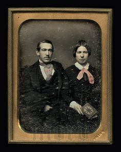 1/4 Tinted Daguerreotype of Handsome Couple by Alonzo by diabolus