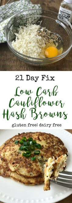 Low Carb Cauliflower Hash Browns | Confessions of a Fit Foodie