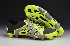 new product 765aa 934dd Adidas ACE15 1 FG-AG Futbol Boots In Fluo Verde Gris