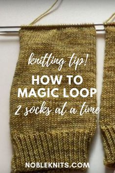 How to Magic Loop in Knitting: 2 Socks at a Time! - How to Magic Loop in Knitting: 2 Socks at a Time! How to Magic Loop in Knitting: 2 Socks at a Time! Magic Loop Knitting, Knitting Help, Circular Knitting Needles, Loom Knitting, Knitting Stitches, Knitting Socks, Knitting Patterns Free, Loom Patterns, Stitch Patterns