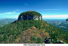 Pilot Mountain NC On way to Sunset Beach from Cleveland; on US-52, between Mt. Airy, NC & Winston-Salem, NC.