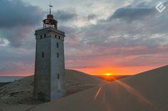 Rubjerg Knude Fyr, 2014. // #landscape #sunrise #sonnenaufgang #leuchtturm #lighthouse #wanderingdune #wanderduene #dune #duene #travel #reise #nordsee #northsea #denmark #daenemark