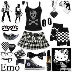 emo clothing   mixed style emo scene punk goth indie cyber lolita