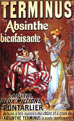 Interdite il y a 100 ans, l'absinthe revit et entretient son mythe. Fée verte Old Posters, Posters Vintage, Vintage Labels, Vintage Ads, Vintage Stuff, Absinthe Drinker, Green Fairy Absinthe, Old Ads, Advertising Poster
