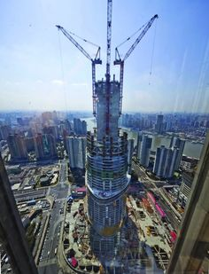 In Progress: Shanghai Tower / Gensler -  soon to be the tallest skyscraper in China when completed in 2014.