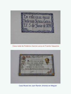 Dos casas museos de poetas rememorados: Federico García Lorca y Juan Ramón Jiménez