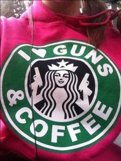 I <3 guns & coffee sweatshirt i love guns and coffee
