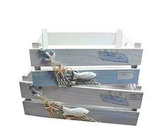 Set de 2 cajas de madera Marino