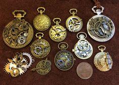 金属チャーム 時計と歯車 セットC パーツ 223個 - ヤフオク!