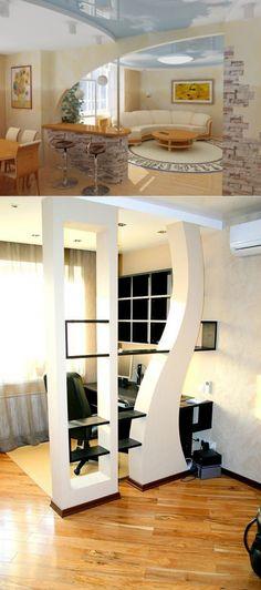 Interior Ceiling Design, Modern Home Interior Design, Home Room Design, Modern Bedroom Design, Living Room Designs, House Design, Living Room Partition Design, Room Partition Designs, Indian Home Interior