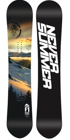 Never Summer Premier Snowboard Never Summer Snowboards, Best Snowboards, Snowboarding Gear, Ski And Snowboard, Snow Coming, Snow Style, Downhill Bike, Winter Love, Cool Gear