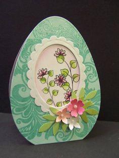 Diorama Sugar Egg...Stamps: PTI Flutterby Friend, Embellishments(scrolls)  by hobbydujour