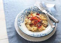 Pasta med valnötspesto och ugnsrostade tomater 12sp