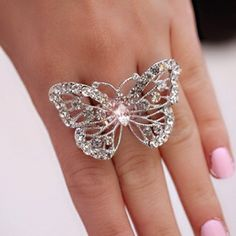 Pretty butterfly ring  #butterfly #kelebek #fly #papillon #Schmetterling #mariposa #farfalla