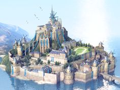 Sue Roberts uploaded this image to 'Decorated images'. See the album on Photobucket. Fantasy City, Fantasy Castle, Fantasy House, Fantasy Places, Fantasy Map, Fantasy World, Fantasy Concept Art, Fantasy Artwork, Fantasy Landscape