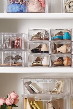 Container Store Clear Stackable Shoe Drawers