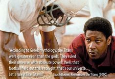 Let's rule it like Titans! – Remember the Titans « Quotes Pics Let's rule it like Titans! – Remember the Titans « Quotes Pics Sport Quotes, Tv Quotes, Movie Quotes, Quotes Women, Quotable Quotes, Bible Quotes, Football Movies, Football Quotes, Remember The Titans Quotes