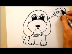Beginner: Drawing a cartoon dog in 2 minutes.