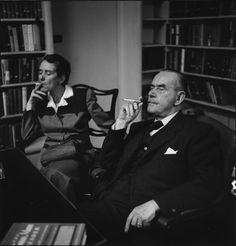 Erika and Thomas Mann, 1950  photo by Elliott Erwitt