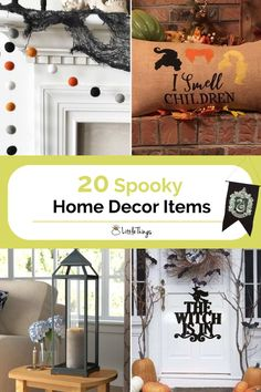 20 Spooky Home Decor Items: Halloween is right around the corner, and for spook-tastic fans out there, that means it's time to decorate. Here are 20 items they should consider decorating their homes with. Halloween Home Decor, Halloween House, Halloween Fun, Home Decor Items, Diy Home Decor, Spooky 2, Home Hacks, Rustic Design, New Room