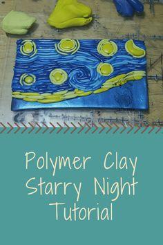 Polymer clay starry night tutorial