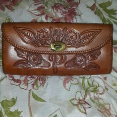 "Clutch Tooled leather, 10"" L x 5"" H Bags"
