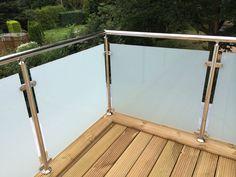 Balkongeländer Edelstahl VSG Glas Balkon Geländer in Business & Industrie, Baugewerbe, Baustoffe & Bauelemente | eBay