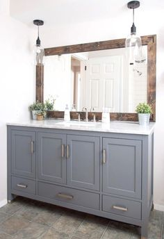 Modern Artifacts For Home Decor 34 Perfect Farmhouse Bathroom Vanity Ideas To Maximize Space.Modern Artifacts For Home Decor 34 Perfect Farmhouse Bathroom Vanity Ideas To Maximize Space Bathroom Vanity Decor, Small Bathroom, Bathroom Ideas, Bathroom Lighting, Remodel Bathroom, Bathroom Organization, Bathroom Inspiration, Bathroom Renovations, Bathroom Makeovers