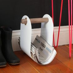 fruitsuper design / print rack -- Rolled-up blanket holder Insence Holder, Blanket Holder, Maple Walnut, Insurance Comparison, Metal, Magazine Rack, Scandinavian, Home Appliances, Flooring