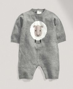 Unisex Welcome To The World Knitted Romper #mamasandpapas