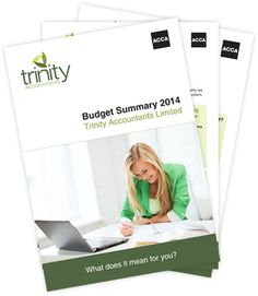 Written in plain English, we have broken the summary down into the main areas of taxation, including personal tax, business tax, employment tax and capital tax. We have also included comments on the more important changes, together with any planning points that may arise. Download your copy now - http://www.trinity-accountants.co.uk/resources-tools/budget-summary-2014/