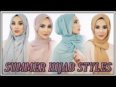 12 Easy Summer Hijab Styles | Amena - YouTube Arab Fashion, Fashion 2020, Fashion Tips, Scarf Styles, Hijab Styles, Hair Styles, How To Wear Hijab, Hijab Style Tutorial, Modele Hijab