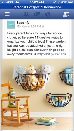 Gardenbaskets as Toy storage
