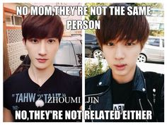Zhoumi + Jin #BTS #SUJU - they don't look anything alike
