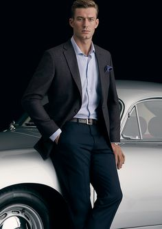 Fabric: Merino Wool (90%) and Cashmere (10%) Body Fit: Classic Colour: Blue/Brown with Check  With a balanced lapel, soft shoulder construction and fully-lined, Dayton embodies casual elegance for the Office or after-hours.